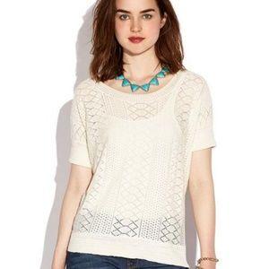 Lucky Cream Light Sweater